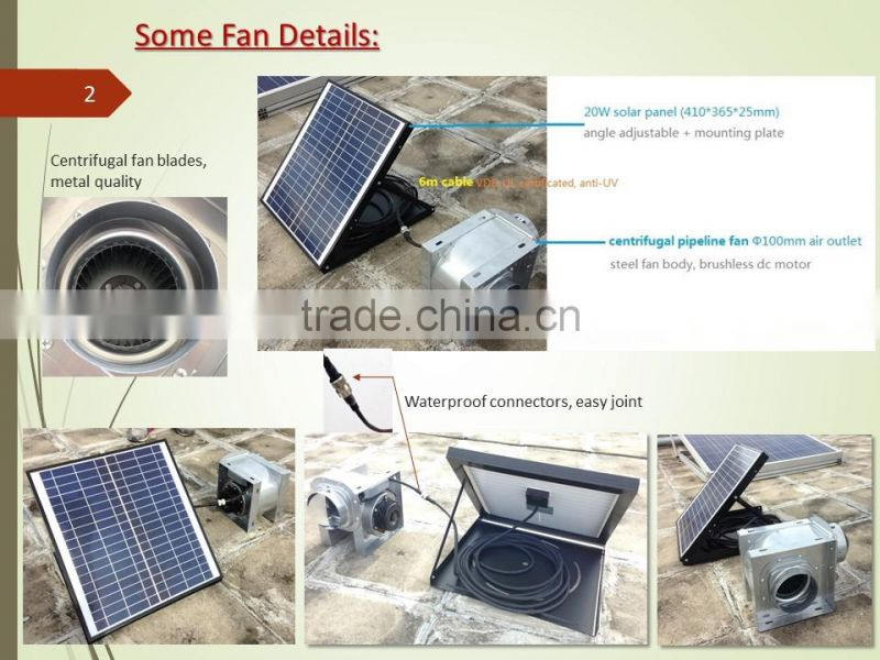 2017 new fan for ventilation solar centrifugal air blower pipeline roof fan wall fan