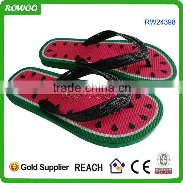Watermelon print Beach children slippers kids indoor slippers
