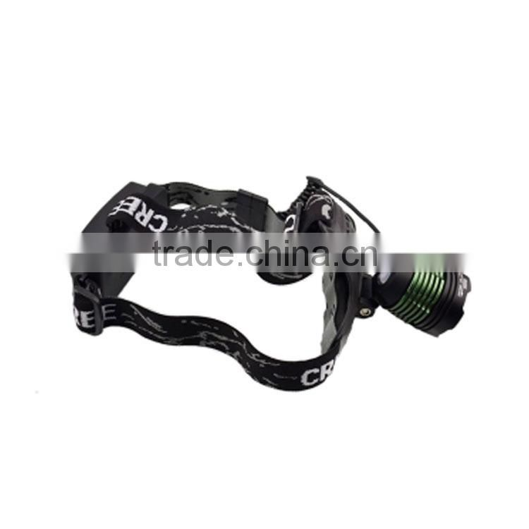 China factory selling led headlamp 2x18650 rechargeable li-ion batteries ultrabright XML-T6 LED headlamp