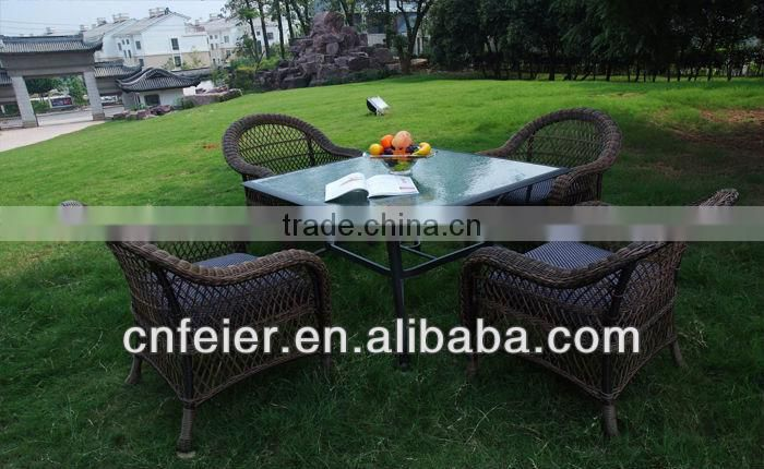 A6005CH Outdoor Rattan Furniture Outdoor Teak Table