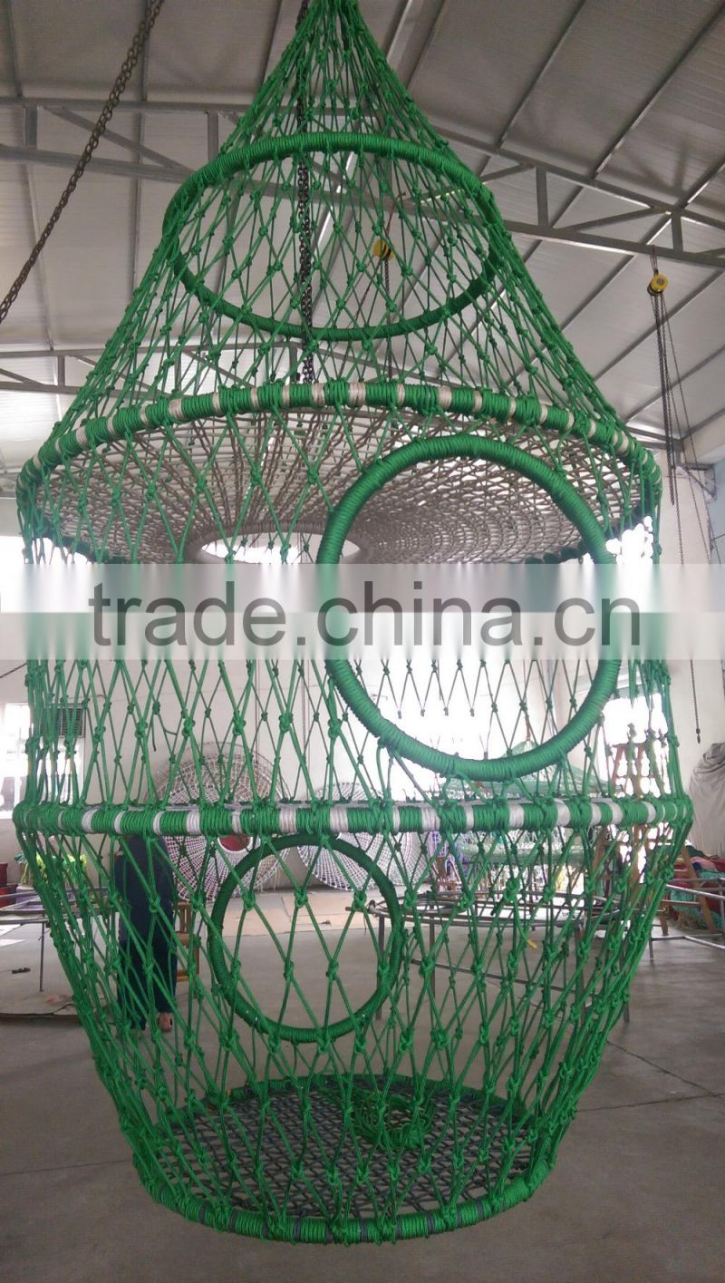 High strength climbing rope net for children high quality net cage for children