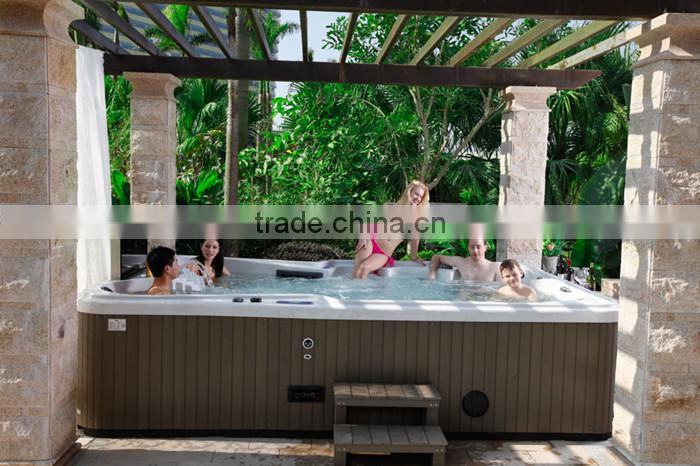Fashionable MINI 3 person outdoor massage spa hottub with high quality --S300