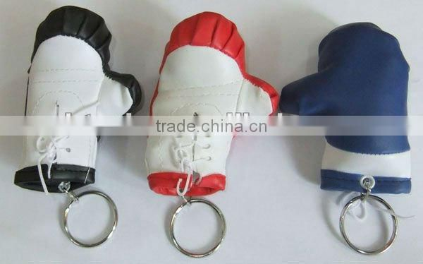 Promotional soft PVC boxing glove keychain