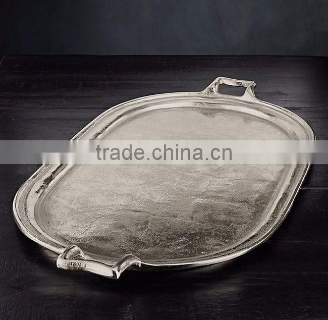 silver plated wedding hammered tray