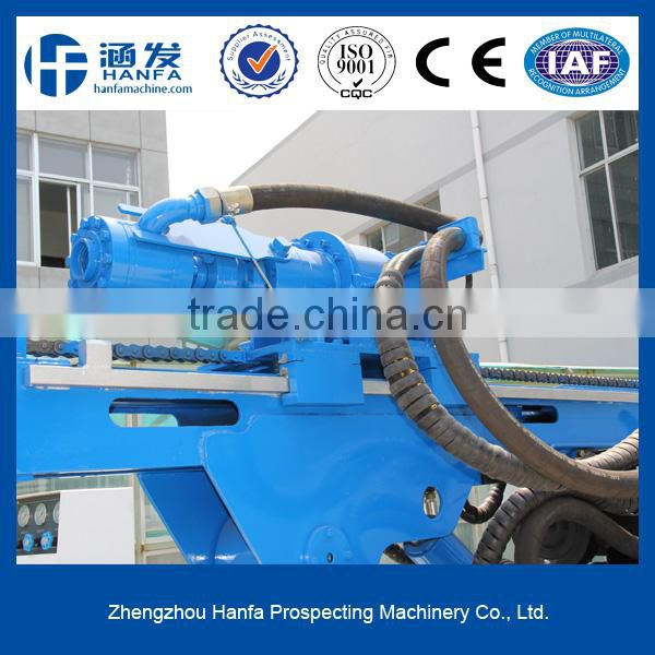 HF410T hydraulic rock drilling machine with air compressor, very easy to operate
