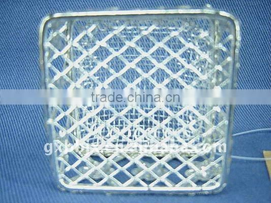 Square silver wire christmas container box