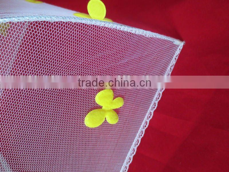Net cloth folded food cover with florals food umbrella