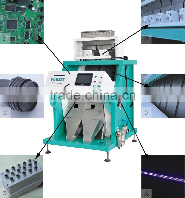 Good processing simply operate touchscreen seeds color sorter for melon seeds sorting