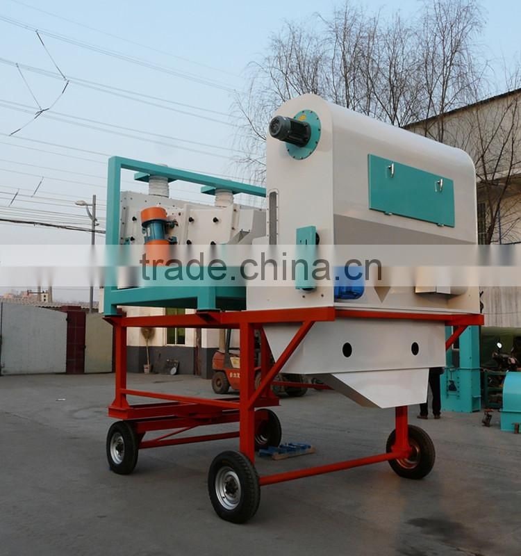 Movable complete sets of white sesame seed cleaning machine