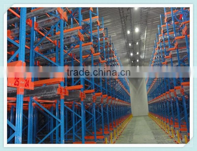 High Density Radio Shuttle Cart Racking System With Pallet Runner