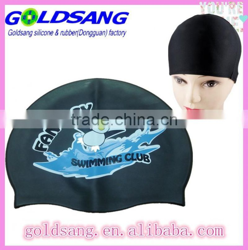 Adult Unisex Silicone Flexible Elastic Color Patterned Swim Cap