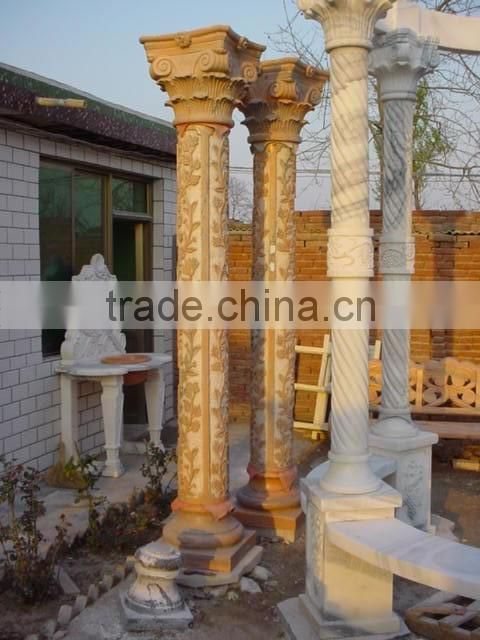 factory sale natural marble roman finishing marble column NTMF-C233S