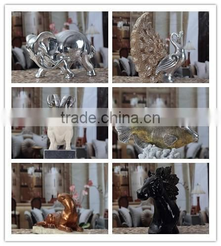 Resin small yellow color leopard animal statues table decorative NTRS-AD003Y