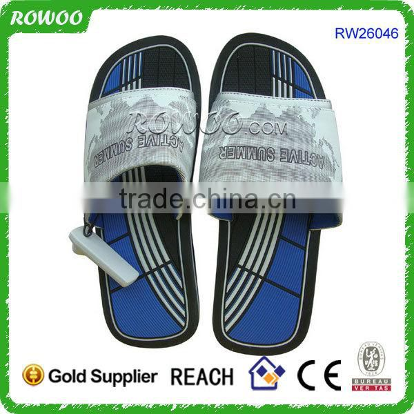 CHEAP PRICES Promotion Customized Logo men pu slippers