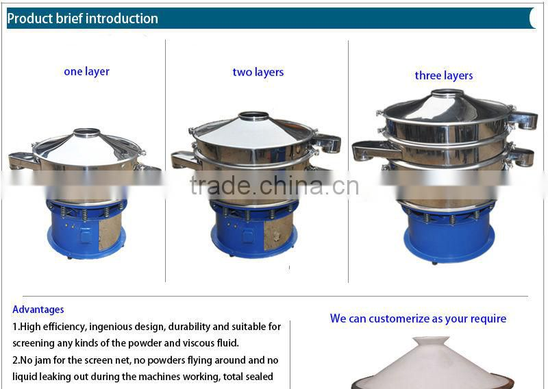 first vibration separator for lead silver and tin