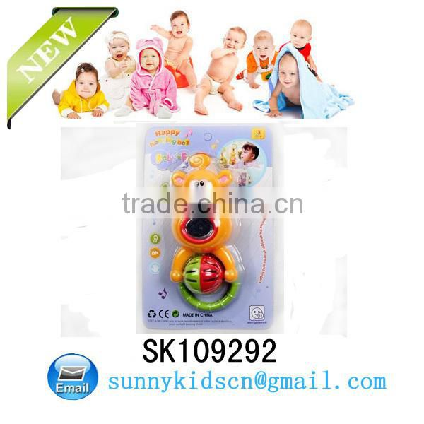 Cute baby plastic rattles toy for baby plastic mini toy