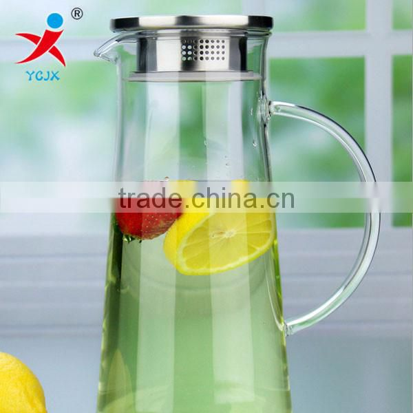 heat-resisting teapot customized large-capacity glass cold juice pot with cover k