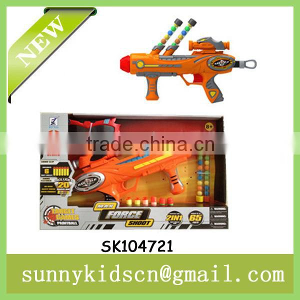 FUNNY soft dart gun ball shooting gun with paintball