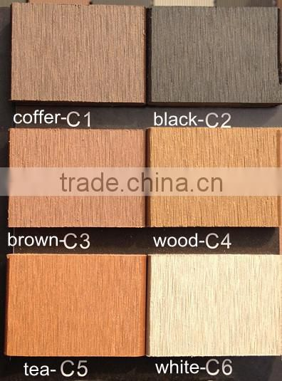Recycled 100% and eco-friendly wood plastic composite joist for outdoor decking