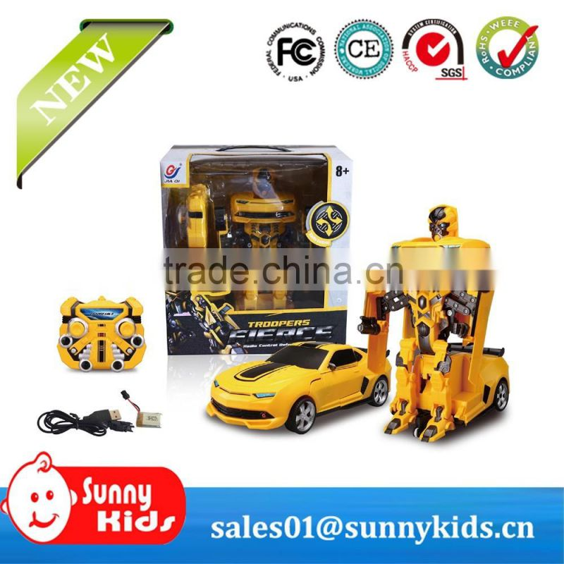 2.4G RC robot car toys transform robot toys with music & sound