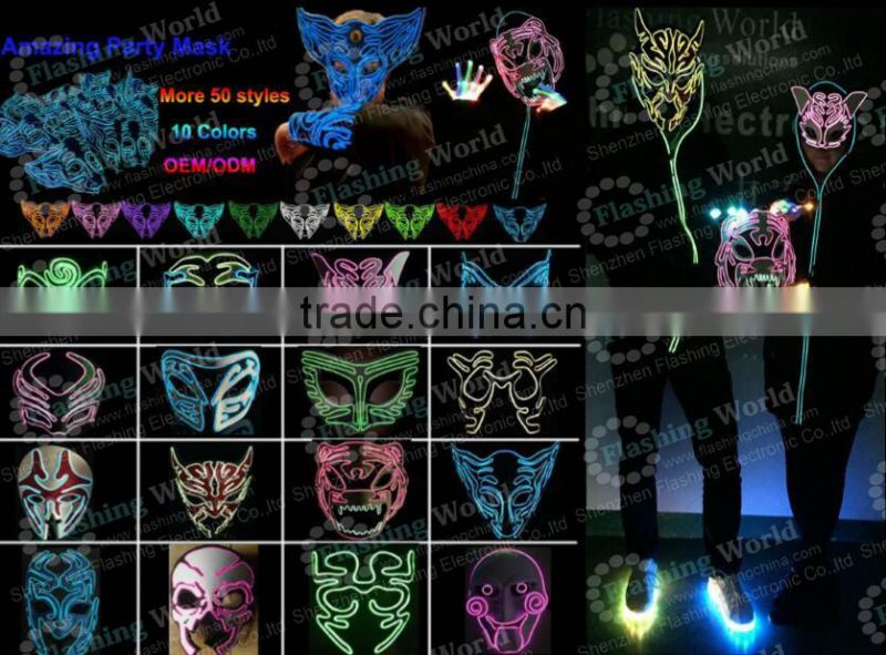 China factory OEM high quality whoelsale amazing christmas kids party face mask