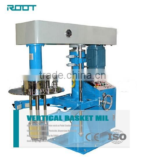 Hydraulic lifting basket mill for printing ink with scissor clamp