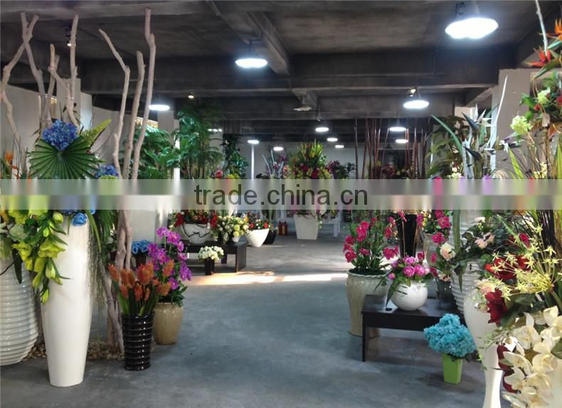 SJZJN 2635 Greenhouse wholesale flower pots/ fiberglass planter flower pot/ artificial flower pot