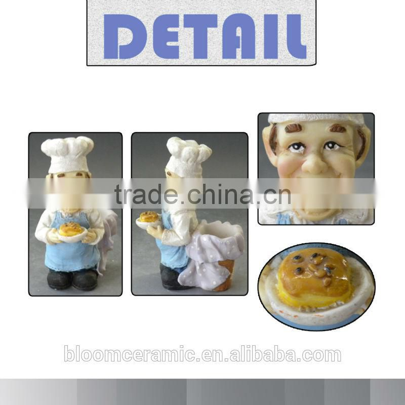 Resin kitchen decoratuon chef souvenirs gifts