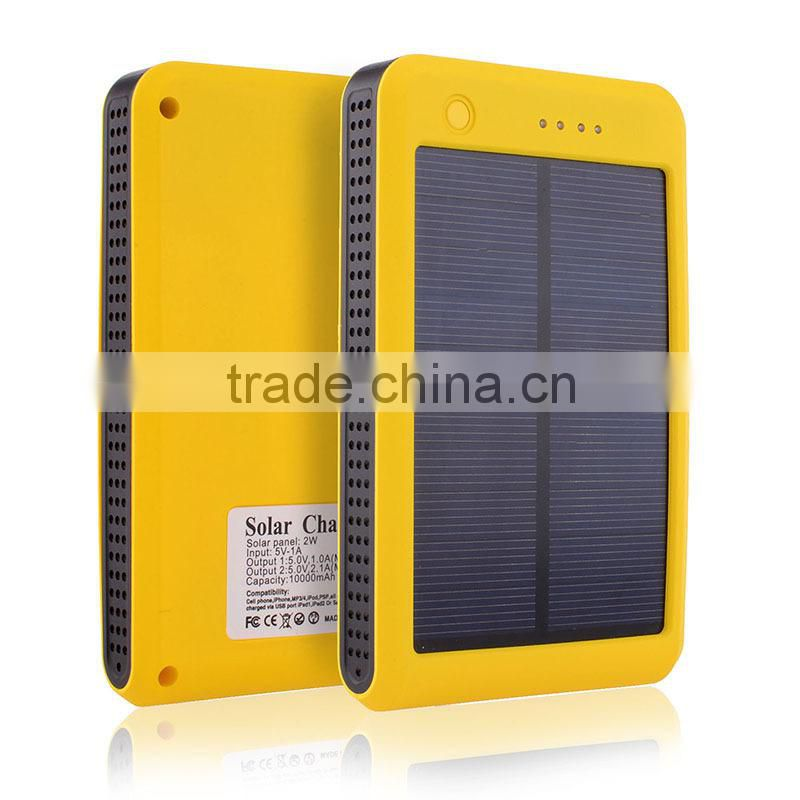 Cheap solar cell power bank 10000mah with real capacity