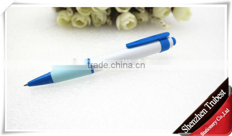 promotional plastic ball pen with rubber grip
