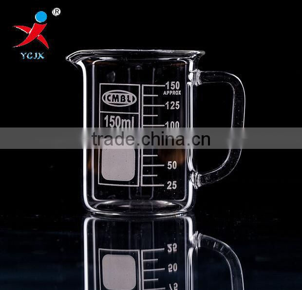 150ml Glass Beaker With Duck Mouth And Handle