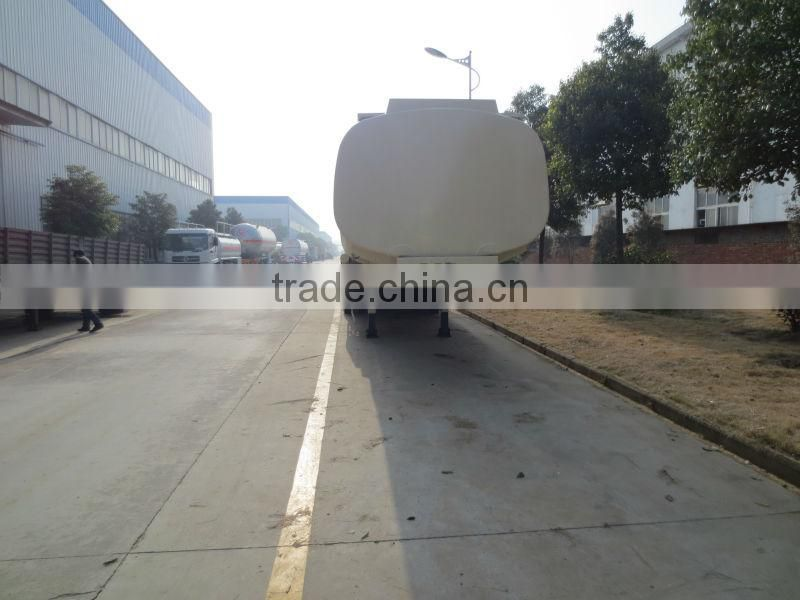 3 axles Aluminum alloy chemical liquid transport semitrailer 41m3
