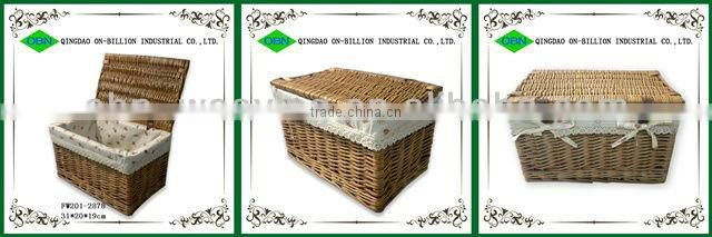 Hot sell woven wicker clothes basket storage box