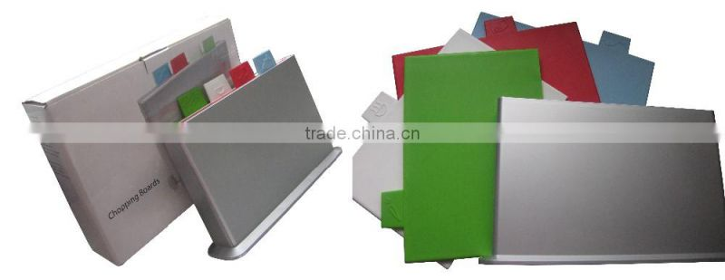 4 pcs chopping board with holder,plastic chopping board,chopping board set