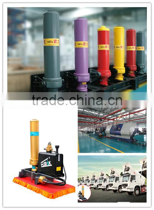 5 stages hydraulic lifting cylinder for tipper / dump truck