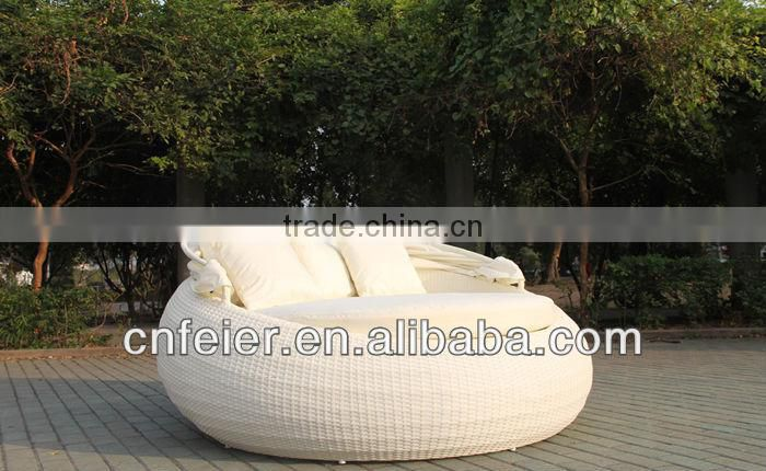 white wicker wave lounge