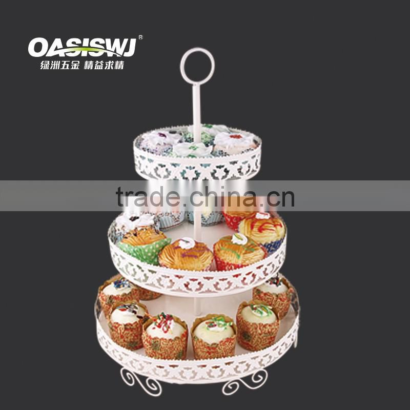 China Wholesale Birthday Cake 3 Tier Cake Stand mental Cupcake Stand For Cupcake