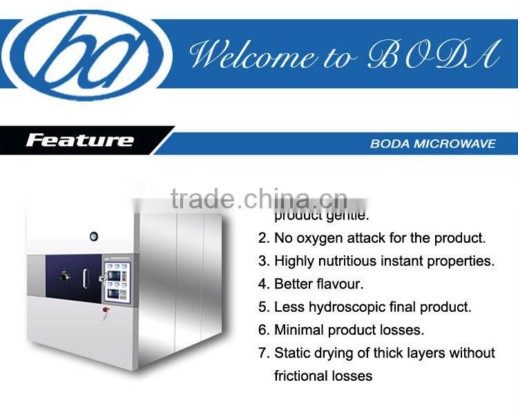 batch type microwave vacuum cassava drying machine