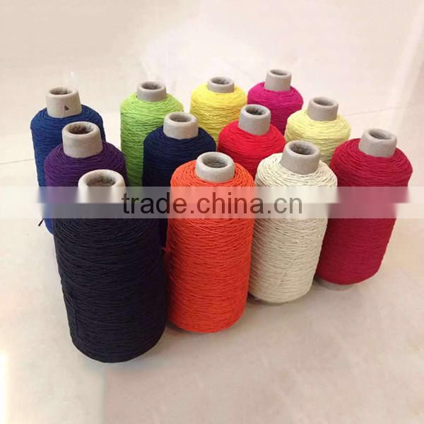 Dope dyed rubber covered spandex yarn 90# latex rubber yarn