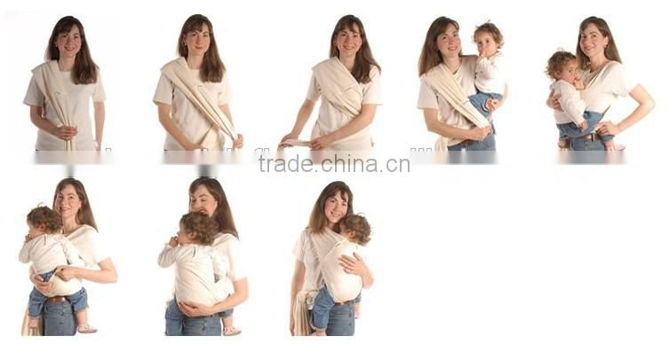 cheap colorful baby sling stretchy cotton wrap carrier for newborn baby/kangaroo baby carrier wholesale
