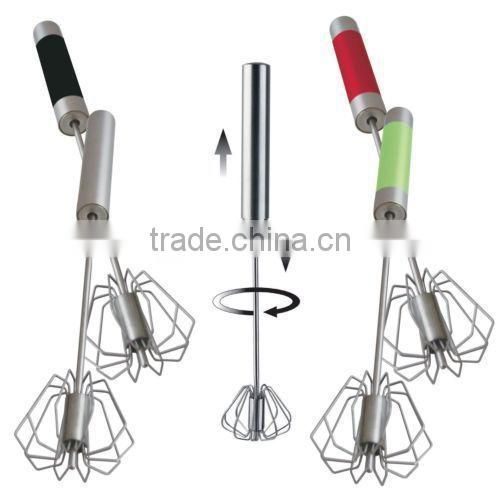 RH-W1 Stainless steel Automatic kitchen rotating egg whisk egg beater