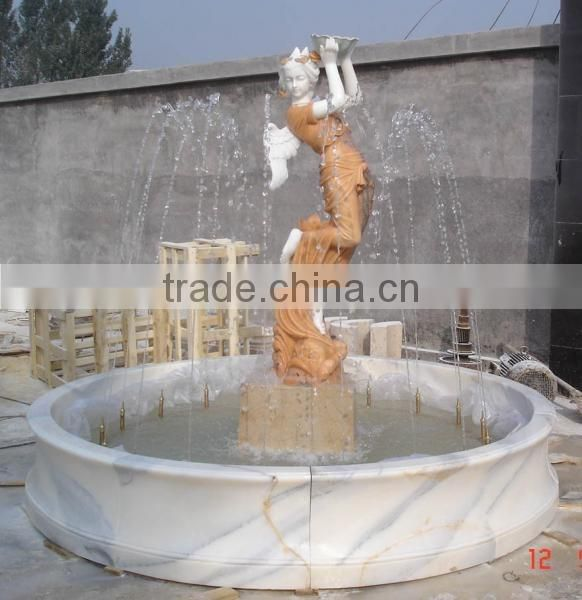 Europen outdoor lady water marble fountain for decor NTMF-009LI