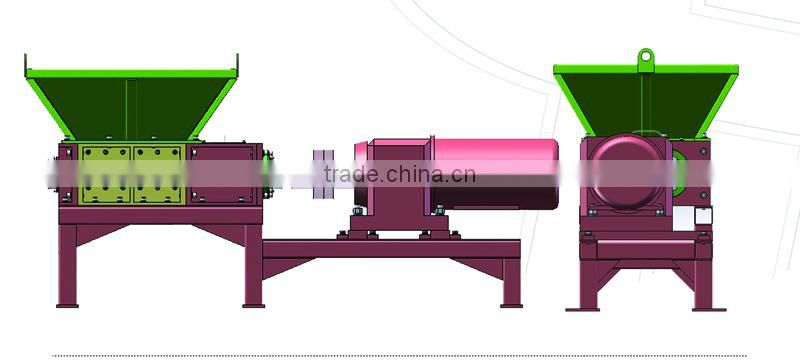 Heavy duty shredder for solid waste recycling