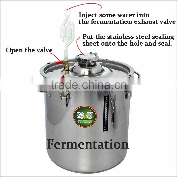 Multifunction!18L Household Stainless Steel Alochol Distiller For Sale Home Wine Distiller Distillation/Brewing Device