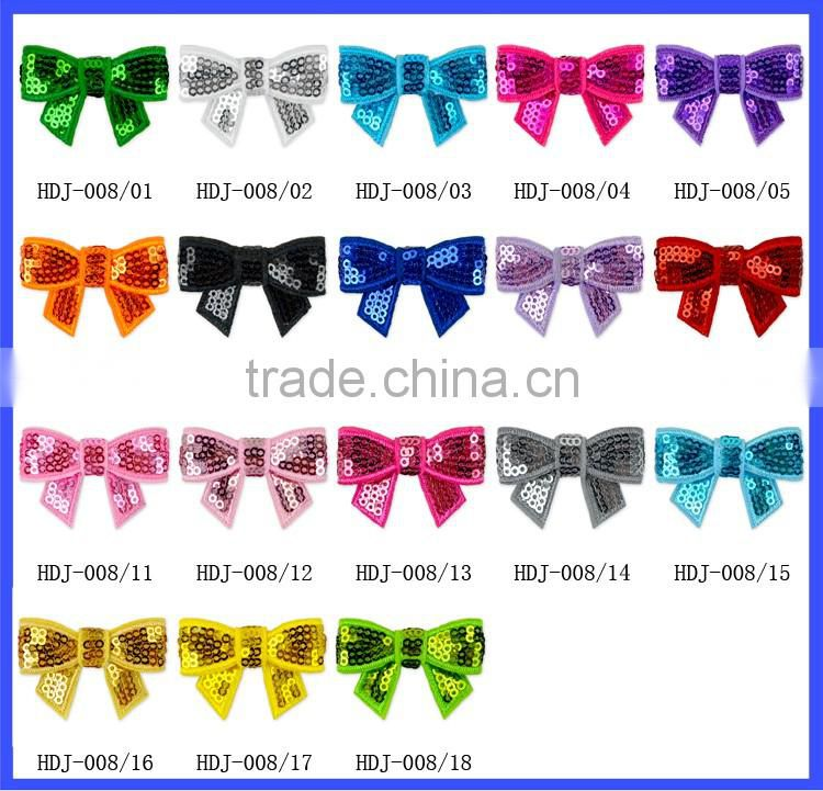 Wholesale Fashion Girls Hair Decorations Hair Bows Girls Boutique Hot Pink Sequin Bow