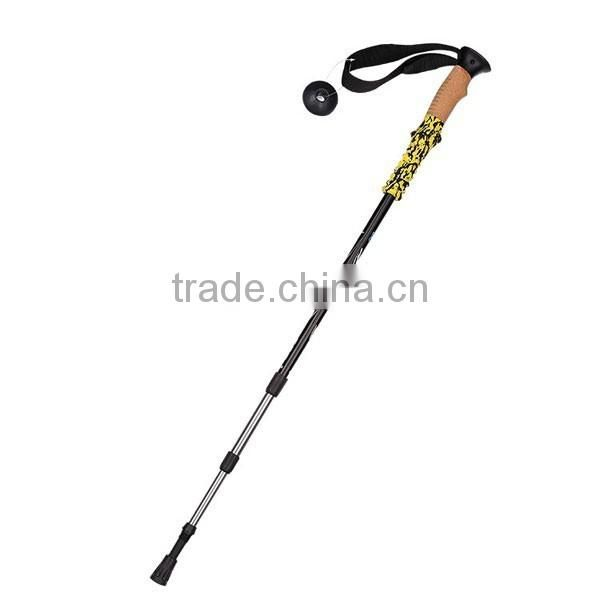Light weight Trekking pole, Cork grip, antislip EVA, internal lock, SZ15525