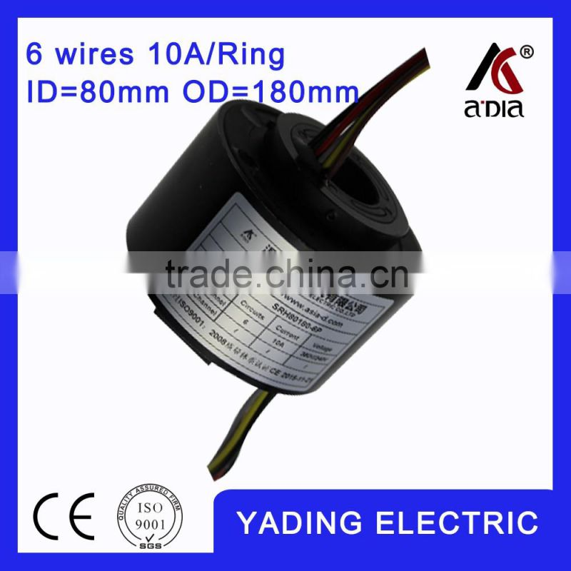 SRH80180-6s electrical slip ring ID 80mm. OD180mm.6Wires, 10A 6 wires