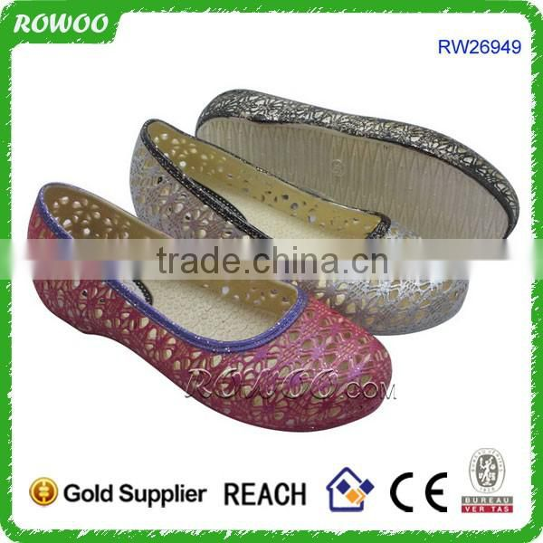 Top quality latest pvc customized logo shoes woman pvc jelly shoes fashion 2016