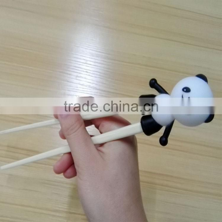 colorful melamine chopsticks with panda silicone helper for kids