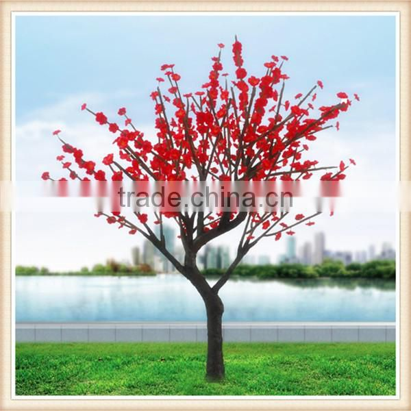 SJM0912186 High-quality garden supplies large plastic artificial plants LED plants with silk blossom flower